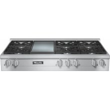 KMR 1356-1 G RangeTop with 6 burners and griddle for versatility and performance