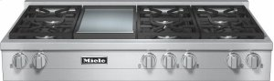 KMR 1356 LP RangeTop with 6 burners and griddle for versatility and performance