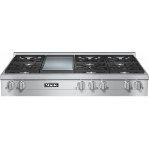MieleKMR 1356-1 LP RangeTop with 6 burners and griddle for versatility and performance