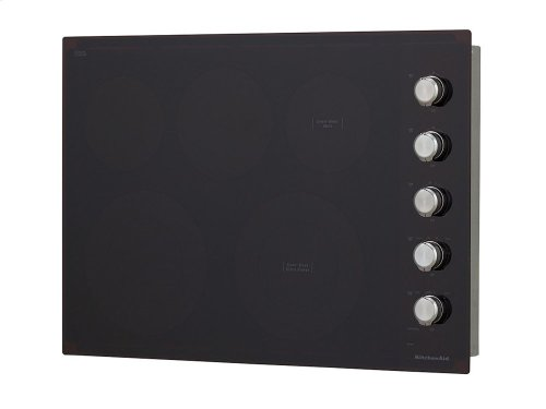 "30"" Electric Cooktop with 5 Elements and Knob Controls - Black"