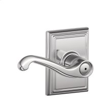 Flair Lever with Addison trim Bed & Bath Lock - Bright Chrome
