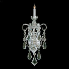 Traditional Crystal 1 Light Glass Sconce
