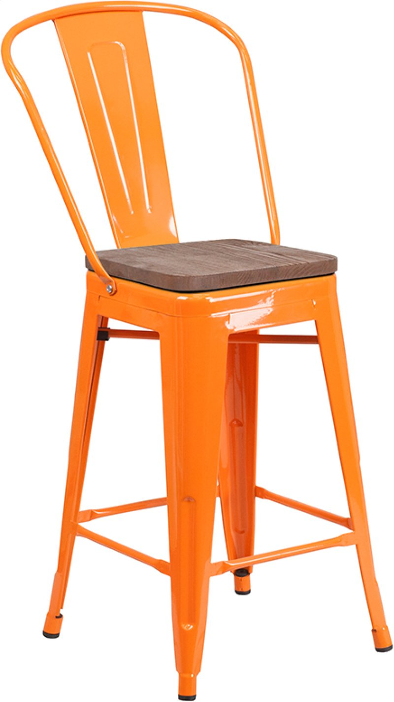 Ch3132024gborwdgg In By Flash Furniture In 24 High Orange Metal