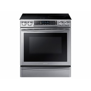 Samsung5.8 cu. ft. Slide-In Induction Range with Virtual Flame in Stainless Steel