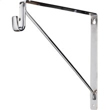 """Shelf & Rod Support Bracket. 1"""" Wide Steel Design Supports up to 150 lb per Bracket. Designed for Use with Hardware Resources 15 mm x 30 mm Oval Closet Rods. Finish: Chrome"""
