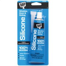 2.8 oz. DAP® All-Purpose 100% Silicone Rubber Sealant, Clear, Carton of 12