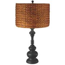 Natural Woven Shade Table Lamp. 100W Max.