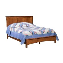 Bungalow Panel Bed with Low Footboard - Cal King