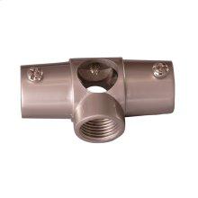Shower Rod Wall Tee - Polished Chrome