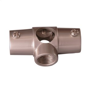 Shower Rod Wall Tee - Polished Chrome Product Image