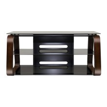 Deep Espresso Finish Curved Wood Audio/Video System