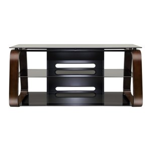 Deep Espresso Finish Curved Wood Audio/Video System -