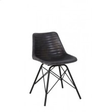 Chair 50x50x80 cm SELDON leather grey