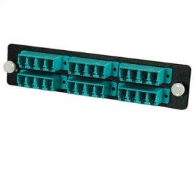 Q-Series™ 24-Strand, LC Quad, PB Insert, MM, Aqua LC Adapter Panel