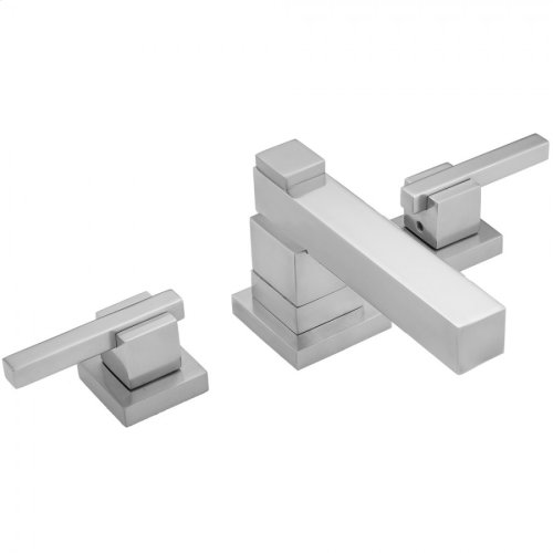 Polished Nickel - CUBIX® Faucet Double Stack with CUBIX® Lever Handles & Fully Polished & Plated Pop-Up Drain