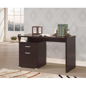 CoasterOffice Desk With Drawer In Cappuccino