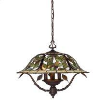 D Latham 3-Light Chandelier in Tiffany Bronze W / Highlts
