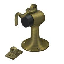 Floor Mount Bumper w/ Holder, Solid Brass - Antique Brass