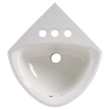 Corner Minette Wall Mounted Sink - White