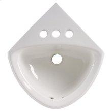 Corner Minette Wall Mounted Sink - White