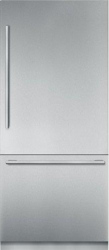 "36"" Stainless Steel Built in 2 Door Bottom Freezer, Pre-Assembled, Masterpiece® Handle T36BB910SS"