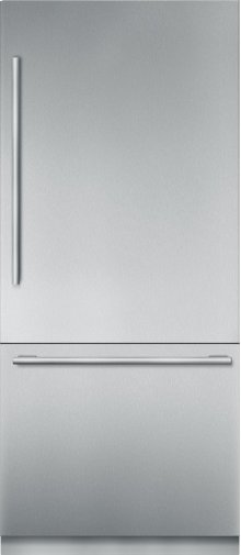 "36"" Stainless Steel Built in 2 Door Bottom Freezer, Pre-Assembled, Masterpiece® Handle T36BB910SS"