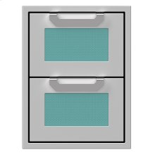 "16"" Hestan Outdoor Double Storage Drawers - AGDR Series - Bora-bora"