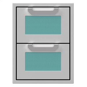 "Hestan16"" Hestan Outdoor Double Storage Drawers - AGDR Series - Bora-bora"