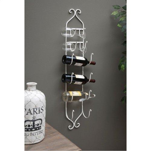 White Towel/Wine Rack