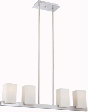 4-lite Chandelier Lamp, Ps/frost Glass Shade, E27 Type A 60w