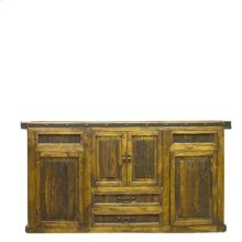 """Back Bottom : 78"""" x 11"""" x 41"""" Laguna Bar with 2 pc. Bar Back and Optional Side Extension"""