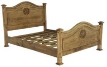 """Queen : 63"""" x 51"""" x 83"""" Promo Bed with Star"""