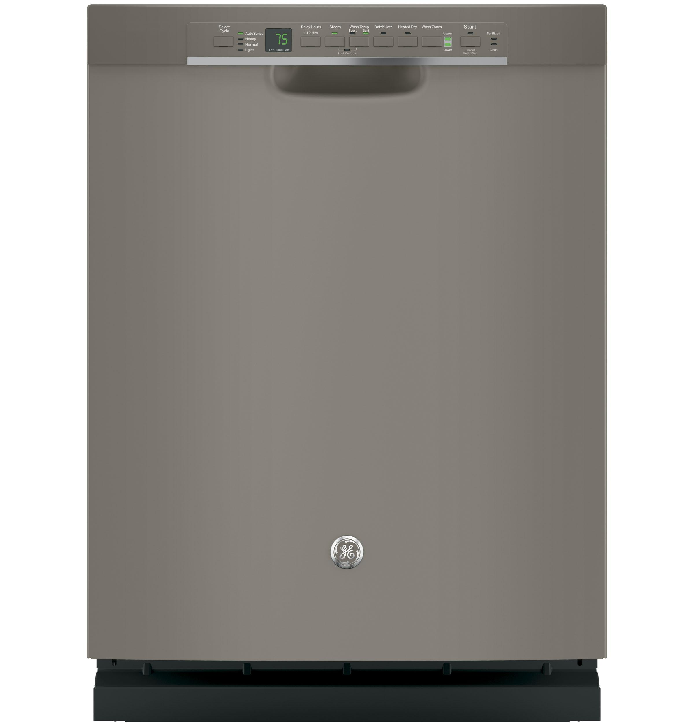 Ge Stainless Steel Interior Dishwasher With Front Controls Built In Dishwashers Dishwashers