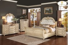 California King Bonded Leather Bed