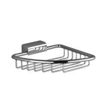 Soap basket for corner installation - chrome