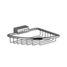 Soap basket for corner installation - chrome