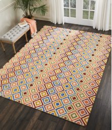 Vibrant Vib01 Ivory Rectangle Rug 4' X 6'