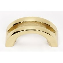 Slit Top Pull A421 - Polished Brass