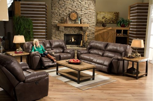 AF740 - Stallion Saddle Reclining Loveseat w/Console