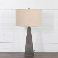 Pewter Finish Leander Table Lamp