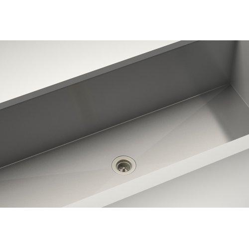 "Drain 100085 - Stainless steel sink accessory , Satin Nickel, 2"""