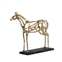 Arabian Horse Statue, Gold