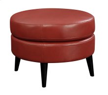 Emerald Home Oscar Round Ottoman-red U3218-03-02