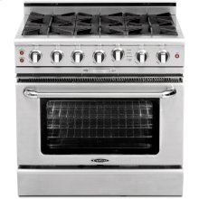 "36"" Gas Self Clean Range w/ Rorisserie in Oven, 6 Burners"