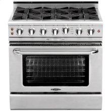 "36"" Gas Self Clean Range w/ Rorisserie in Oven, 6 Burners"