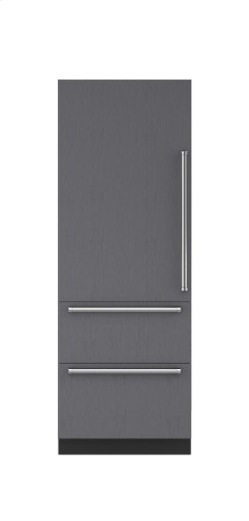"""30"""" Integrated Over-and-Under Freezer with Ice Maker - Panel Ready"""