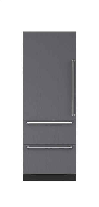 "30"" Designer Over-and-Under Freezer with Ice Maker - Panel Ready"