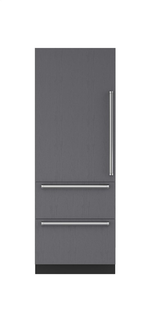 "30"" Integrated Over-and-Under Freezer with Ice Maker - Panel Ready"