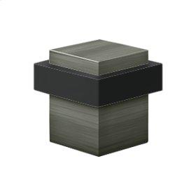 "Square Universal Floor Bumper 1-3/8"", Solid Brass - Antique Nickel"