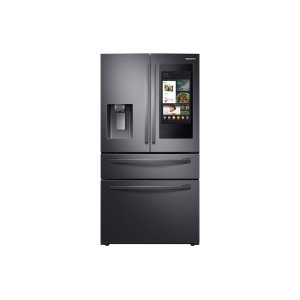 "Samsung Appliances22 cu. ft. 4-Door French Door, Counter Depth Refrigerator with 21.5"" Touch Screen Family Hub™ in Black Stainless Steel"